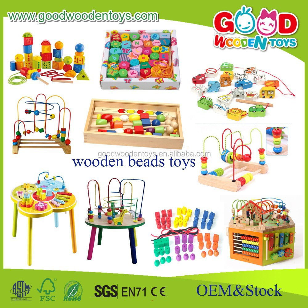 Educational Toys Product : Early learning toys colorful educational wood beads