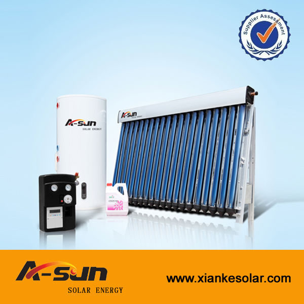split pressure solar water heater with veranda solar collector panel