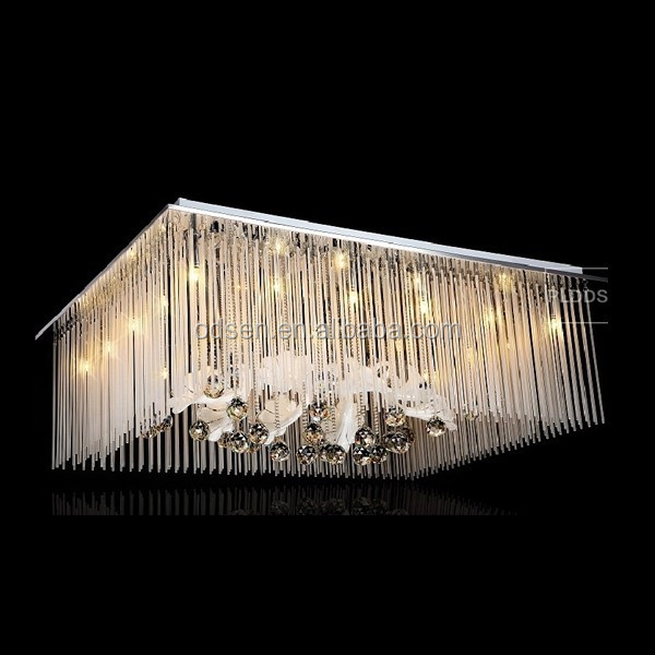 Hotel luxury gold crystal sky star decorative hanging ceiling light