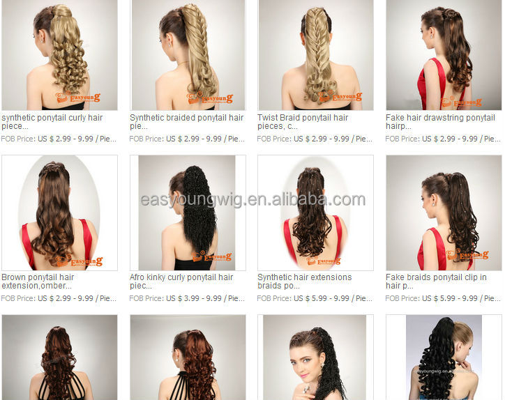 Afro Kinky Curly Claw Clip Hair Extensions Ponytail Hairpiece In