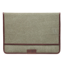 laptop sleeve for macbook 12 inch computer canvas with leather stand function laptop pouch bag