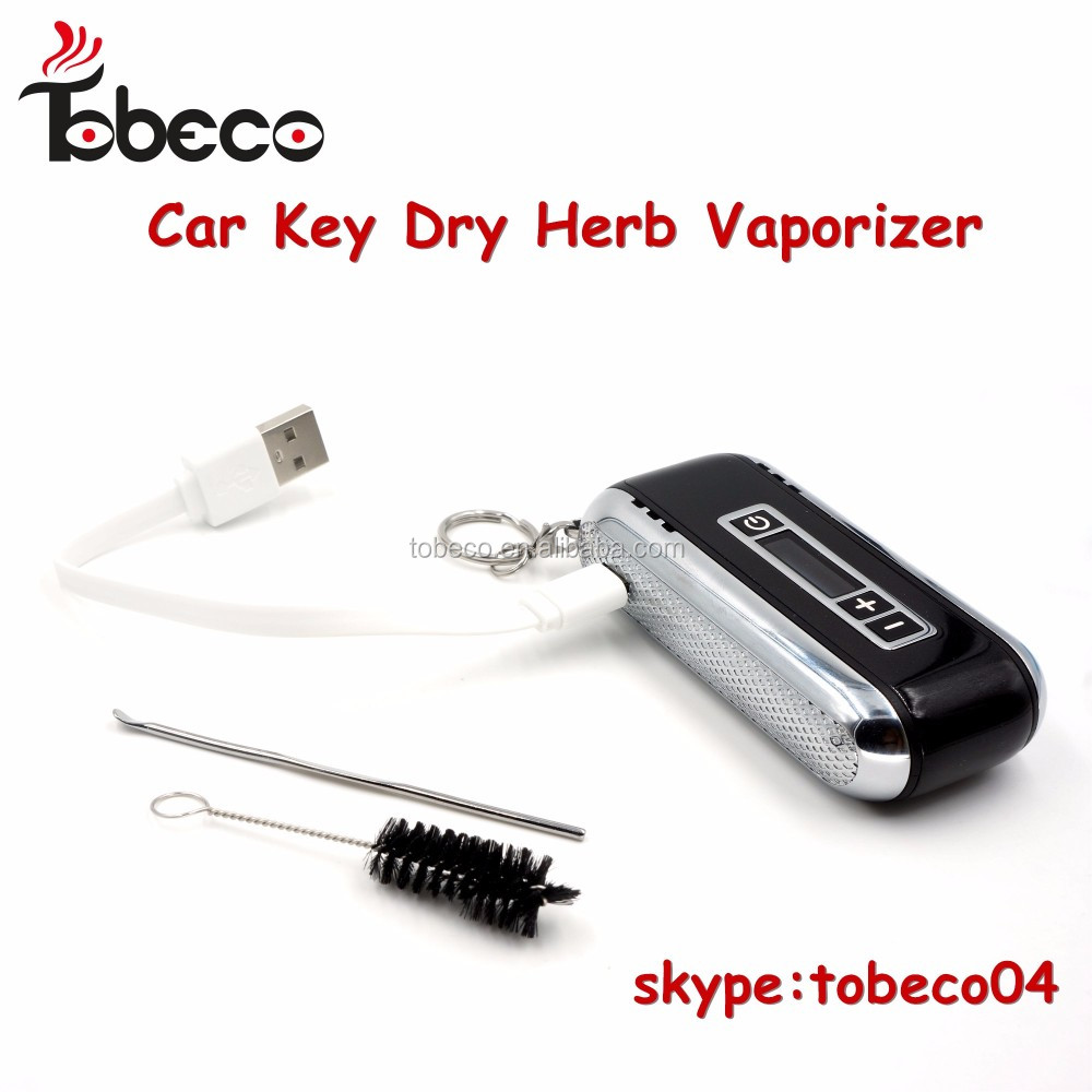 Tobeco 2017 original dry herb vaporizer car key wax pen kit dry herb vaporizers herbal wax