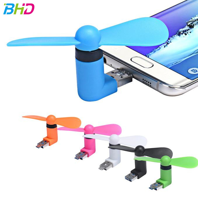 Best selling 2 IN 1 Travel Portable CellPhone Mini Fan Cooling Cooler For Micro USB For iPhone fan