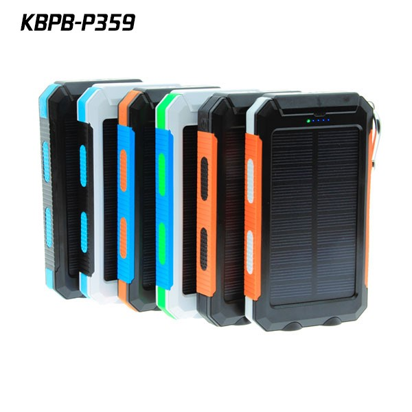 Wholesale trending products solar phone charger 10000Mah with Aluminum material