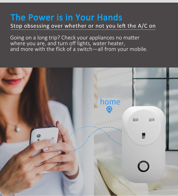 UK plug wifi smart plug remote control