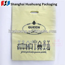 quality products bio-degradable die-cut handle plastic gift bags with company logo