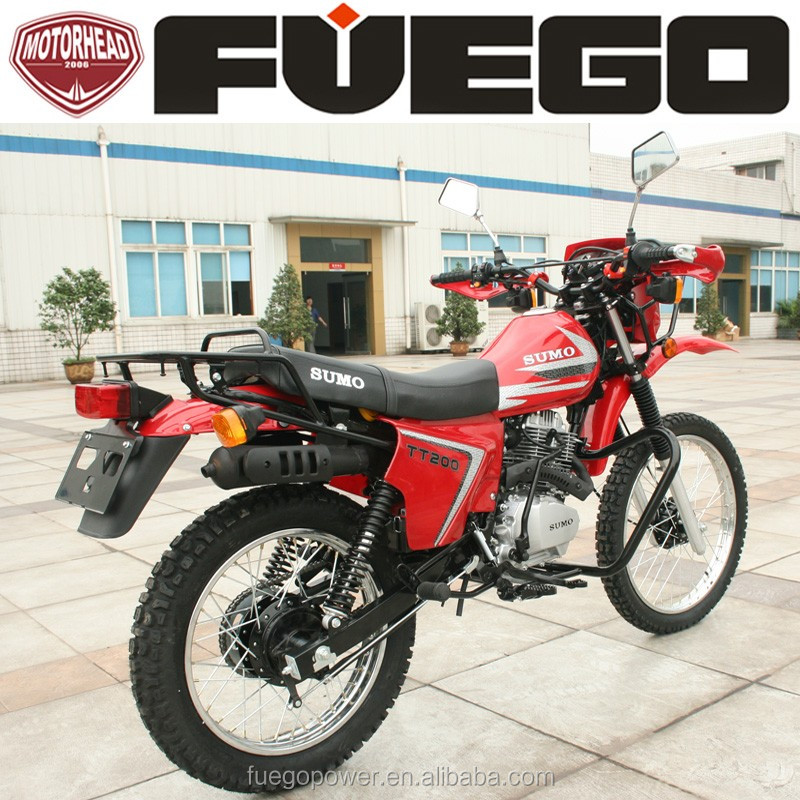 Cheap Motorcycle 200CC Off Road Motorbike With Cargo Rack Head Siginal Lights Electric Kick Start