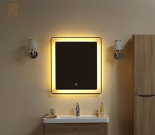 Touch Frameless LED White Light Mirror, Sandblasting Edge, 32""