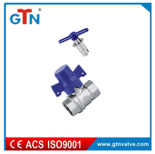 F/F brass safety lockable ball valve