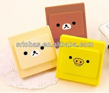 Wholesale Cute cartoon shapes mini wall safety switch plate covers colorful silicone light switch cover