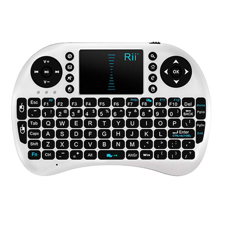 mini wireless backlit keyboard 2.4g rii mini i8+ Touchpad Handheld for Andriod TV box piano keyboard