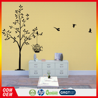 light color tree pattern design wall art painting mural wallpaper decorative wall coatings