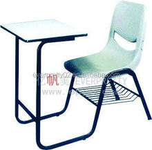 Used plastic school desk chair attached cheap
