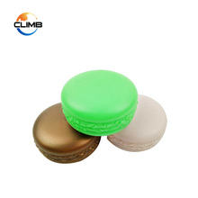 Shopping Custom Color Macaron Shape Cosmetic Cream Jars PP Plastic Empty 10g Lip Balm Jar Box Containers
