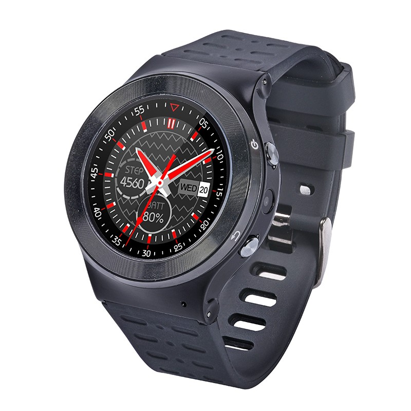 Full round screen 3G smart android watch with bluetooth and heart rate ZGPAX S99