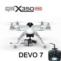 Walkera QRX350 PRO Devo 7 transmitter version drone with hd camera transmitter battery and charger