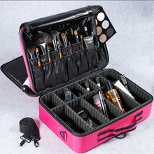 Salon Hairdressing Travel Organizer Cosmetics Brush Tool High Quality Makeup Bag Professional Case With Shoulder strap