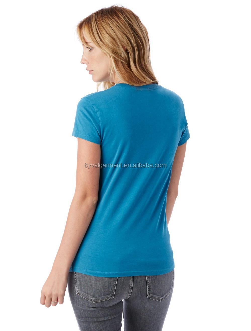 100% organic cotton Bulk plain t-shirts for women (8).jpg