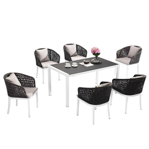 Modern Aluminium Frame Woven Outdoor Garden Dining Rattan Wicker Chair