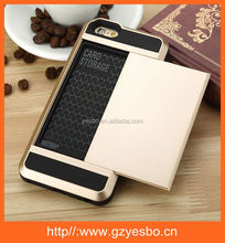 sliding case with cards hoder for iphone 6 and plus card slide case
