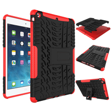 For Apple iPad 5 / iPad air, Hybrid Shockproof Protective Rugged Rubber Silicone PC Tablet Case