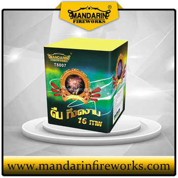 1.5 inch 16 shots big cake fireworks with nice effct for wedding and Christmas celebration