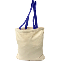 Self Fabric handles canvas shopper grocery tote bags