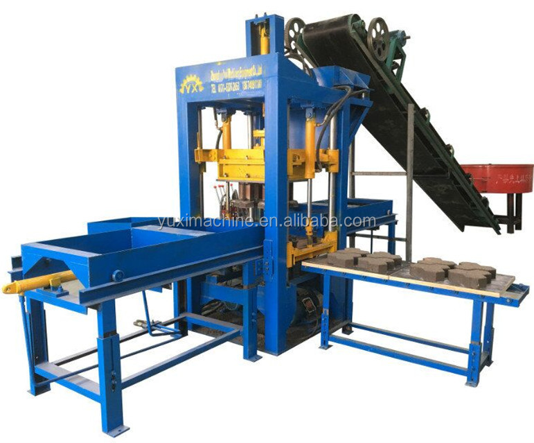 Used concrete curb machine sale QT10-15 automatic cement block machine manufacturer