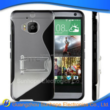 tpu pc case with stand for htc one M9 Plus M9 et