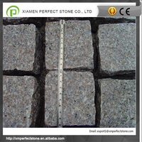 Paving cube stone grey granite