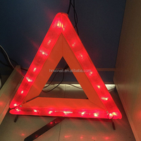 high quality car accident led reflective triangle