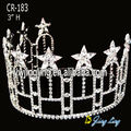 Clear star patriotic pageant crown