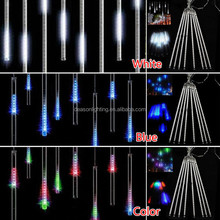 30cm/50cm/80cm 10 tubes LED Meteor Shower Rain Waterproof String Light Tree Party decoration light