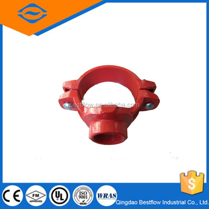 20% discounted mechanical grooved outlet/ductile iron grooved pipe fittings