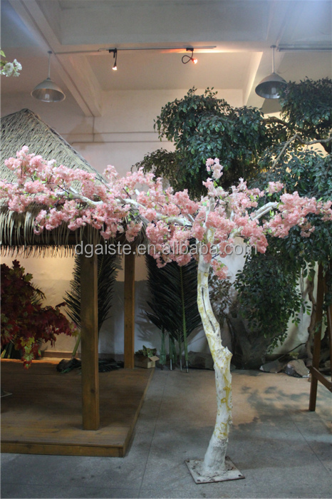 artificial cherry blossom curved rod tree silk flowers artificial cherry wedding tree