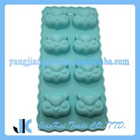 8-Cavity Customized Owl Shaped Silicone Ice Cream Mold Wholesale