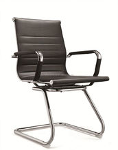 conference visitor leather office chair with metal frame