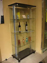 Quality manufacture red wine rack shelves showcase
