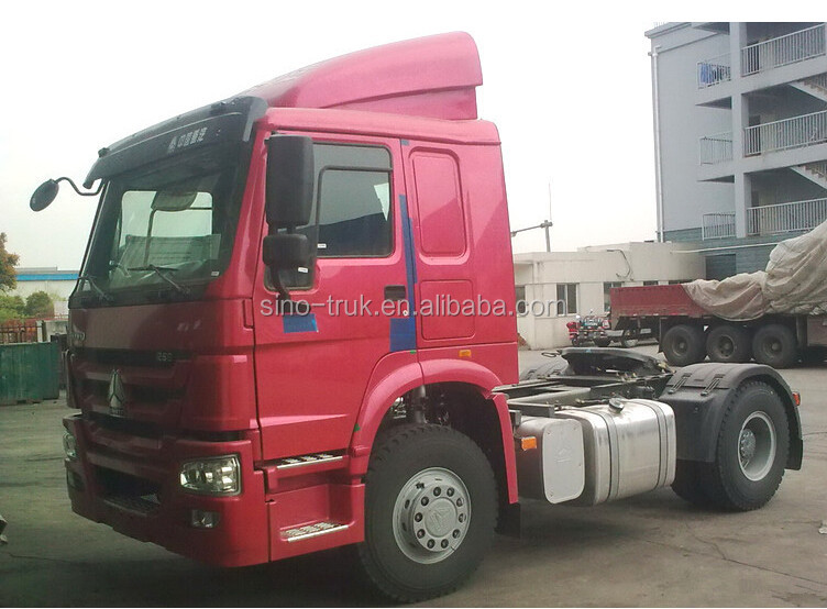 diesel engine 4x2 6 tyres howo tractor truck for sale