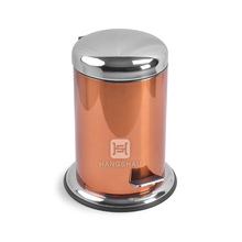 3L copper color painting stainless steel garbage waste trash bins