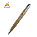 Fat wooden pen promotional gift logo printing Amazon Ebey hot selling ecological bamboo pen with metal pen kits