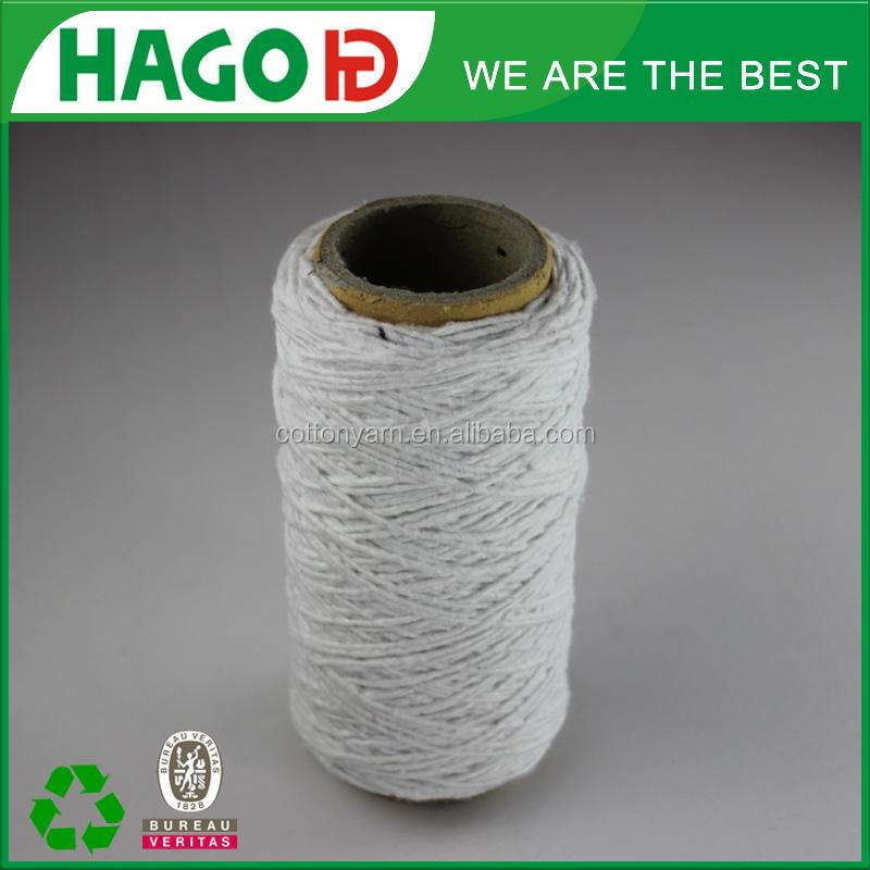 Ne0.5s 2 ply white recycled polyester yarn madame tricote paris yarn