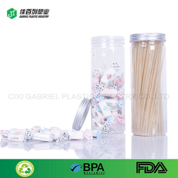 sample free bulk food packing jar pet clear wholesale fruit and nut packaging