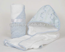 children use hooded bath towel with embroidery design