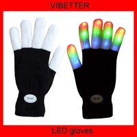 2 x 6-Mode Multi-Color LED Party Gloves