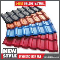 Construction Material Synthetic /ASA Spanish Roof Tile