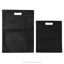 China Factroy Wholesale T-shirt Packaging Custom Foldable Non Woven Black Shopping Bag