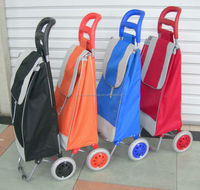 Fashion shopping trolley on wheels, two wheels shopping cart shopping trolley luggage