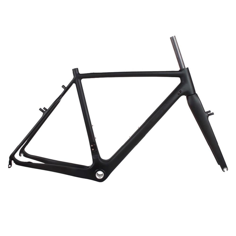 dengfu cyclocross frame fork disc brake carbon fiber material cadre cyclo cross carbone view