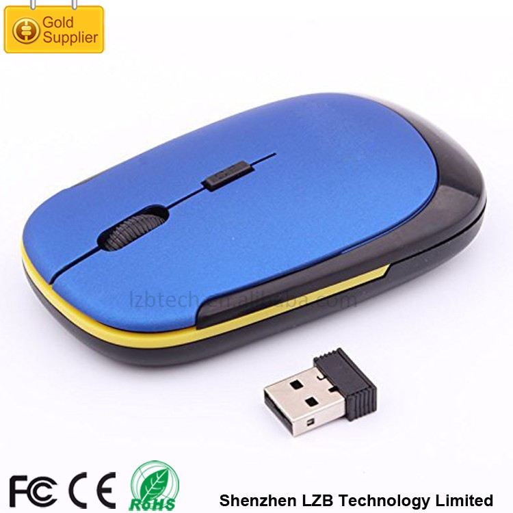 WM-02 FCC Standard Super Slim Ultra Thin 3500 2.4G Wireless Mouse USB Types of Computer Mouse